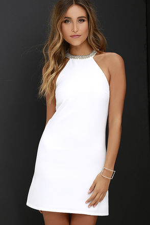 Comely Beaded Ivory Dress at Lulus.com!
