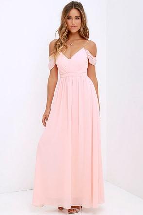Quite the Charmer Peach Maxi Dress at Lulus.com!