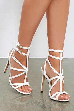 Bound to Appear White Caged Heels at Lulus.com!
