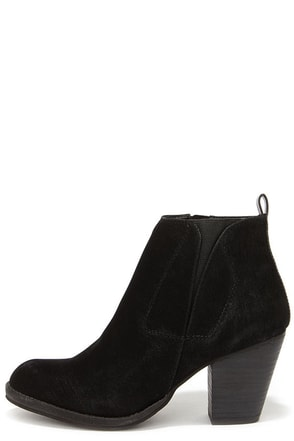 Chelsea Crew Halo Black Suede Ankle Boots