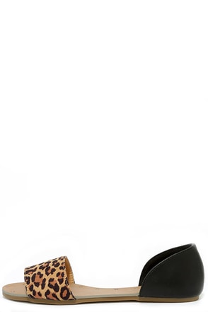 Atlantic Seaboard Leopard Peep Toe Flats at Lulus.com!