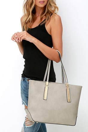 Prima Donna Girl Taupe Tote at Lulus.com!