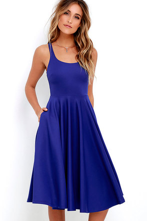 Making Memories Royal Blue Midi Dress at Lulus.com!