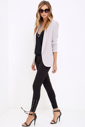 Rearview Mirror Black Lace-Up Trouser Pants at Lulus.com!