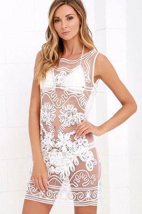 Sun and Dance Ivory Mesh Cover-Up at Lulus.com!
