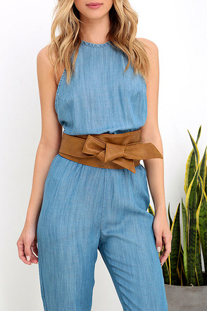 Moment of Chic-ness Tan Wrap Belt at Lulus.com!