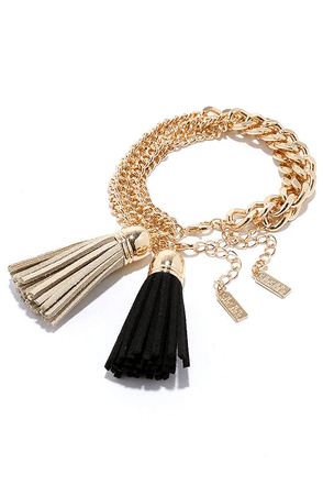 La Vie Fab Beige and Black Bracelet Set at Lulus.com!