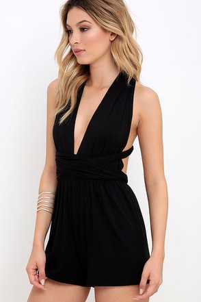 Any Way You Want Me Black Romper at Lulus.com!