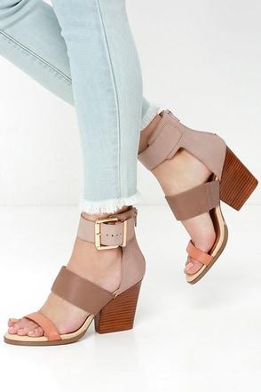 Very Volatile Serena Tan Multi Leather Heels at Lulus.com!
