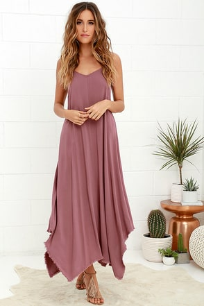 Others Follow Kiara Mauve Maxi Dress at Lulus.com!