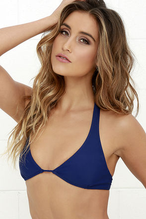 Mia Marcelle Michon Navy Blue Bikini Top at Lulus.com!