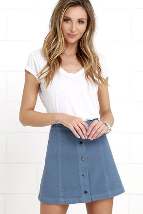 This is Happening Blue Skirt at Lulus.com!