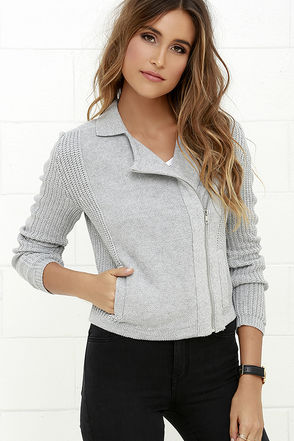 Olive & Oak In Perpetuity Grey Sweater at Lulus.com!