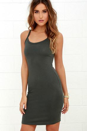 Olive & Oak So to Sleek Grey Bodycon Dress at Lulus.com!
