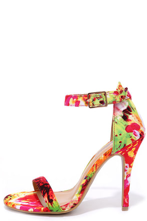 Picturesque White Ankle Strap Heels at Lulus.com!