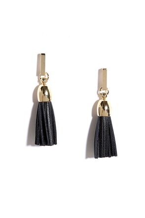Fab Forever Black Tassel Earrings at Lulus.com!