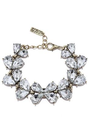 Dew Wop Gold Rhinestone Bracelet at Lulus.com!