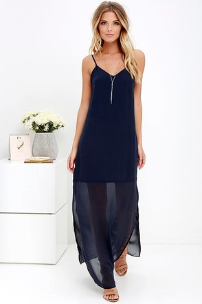 Gentle Fawn Fleur Navy Blue Maxi Dress at Lulus.com!