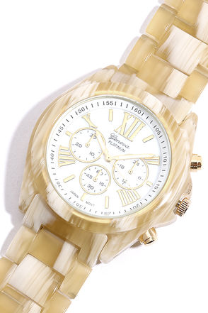 'Round the Clock Beige and Ivory Watch at Lulus.com!