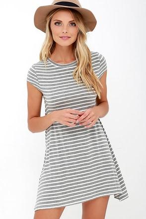 Billabong Last Minute Heather Grey Dress at Lulus.com!