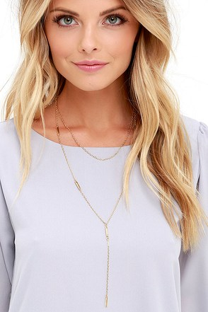 Hold the Reins Silver Layered Drop Necklace at Lulus.com!