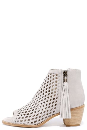 Matisse Indie Ivory Suede Leather Cutout Ankle Booties at Lulus.com!