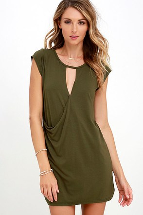 Fluidity Brown Wrap Dress at Lulus.com!