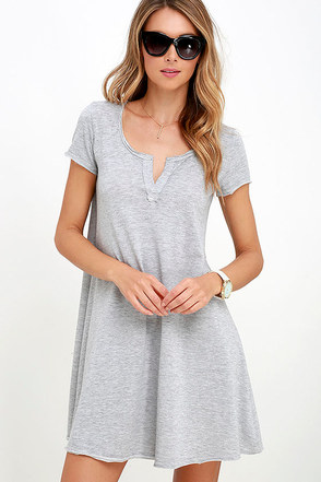 The Tempo Washed Blue Swing Dress at Lulus.com!