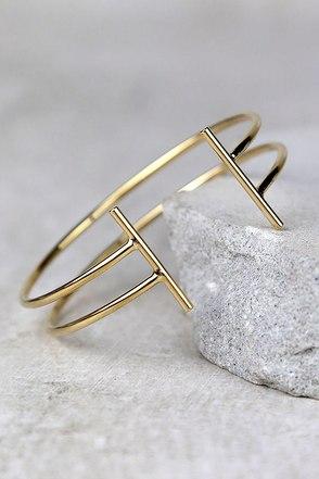 First Instinct Gold Cuff at Lulus.com!