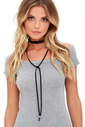 Ride or Tie Black Wrap Necklace at Lulus.com!