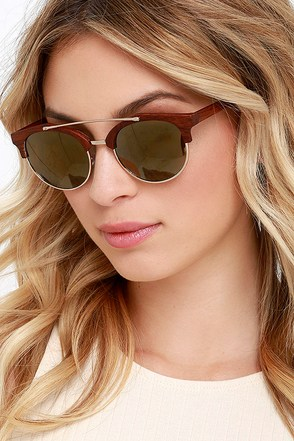 Continually Cool Brown Mirrored Sunglasses at Lulus.com!