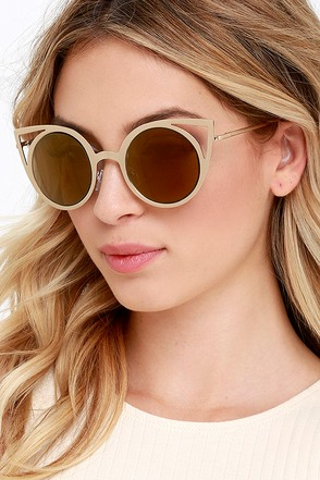 Shine Through Gold Sunglasses at Lulus.com!