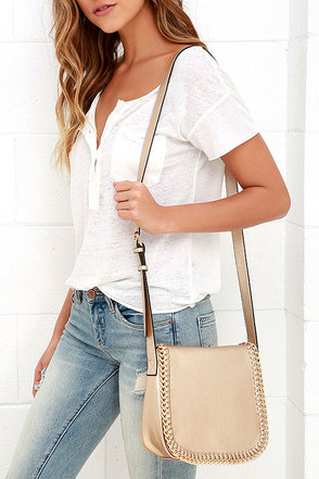 West Interest Gold Purse at Lulus.com!