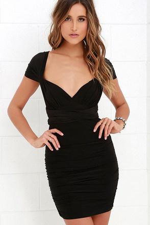 A Joy Forever Black Convertible Dress