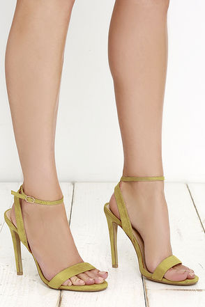 Baila Mamita Green Suede Ankle Strap Heels at Lulus.com!