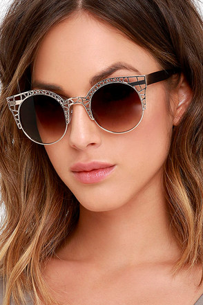 L.A. Life Cutout Gold Sunglasses at Lulus.com!