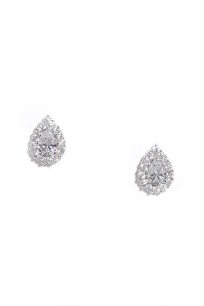 Grateful for the Gleam Silver Rhinestone Earrings at Lulus.com!