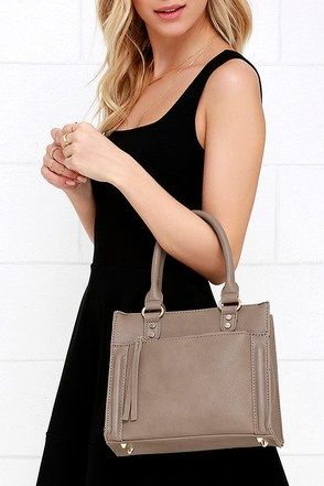 Method and Mood Taupe Mini Handbag at Lulus.com!