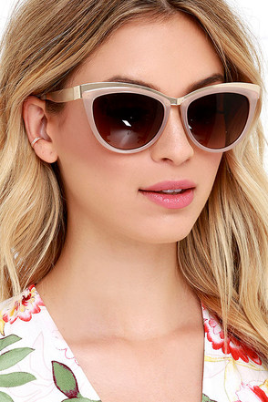 Feline Fine Taupe Cat Eye Sunglasses at Lulus.com!