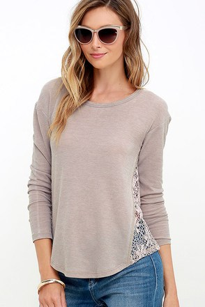 White Crow Desert Dust Light Taupe Long Sleeve Top at Lulus.com!