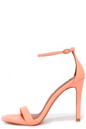 Steve Madden Stecy Coral Neon Ankle Strap Heels at Lulus.com!