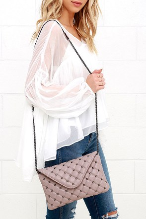 Haute Stud Mauve Quilted Purse at Lulus.com!