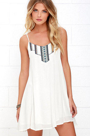 This Morning Navy Blue Embroidered Dress at Lulus.com!