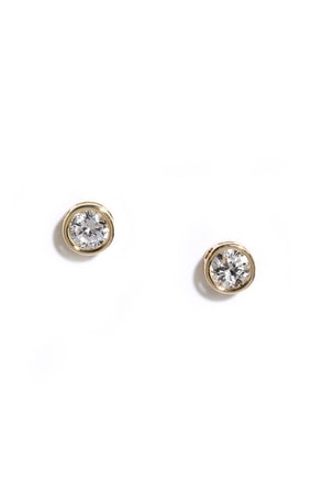 All for Stun Gold Rhinestone Earrings at Lulus.com!