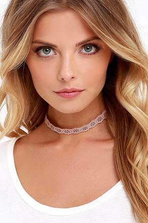 How Do You Do? Pink Choker Necklace at Lulus.com!