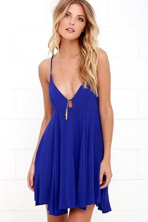 Samana Bay Blue Print Dress at Lulus.com!
