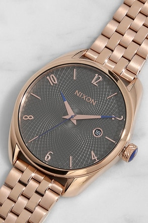 Nixon Bullet Rose Gold and Gunmetal Watch at Lulus.com!