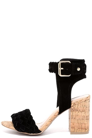Natural Habitat Black Suede Heels at Lulus.com!