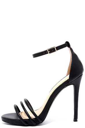 Date with Destiny Black Ankle Strap Heels at Lulus.com!