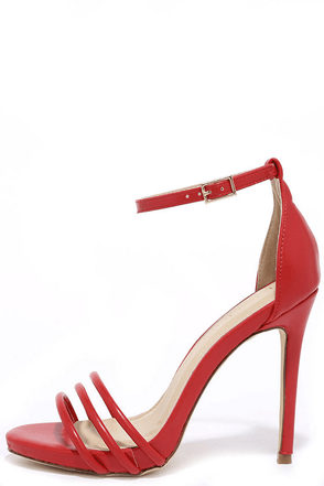 Date with Destiny Red Ankle Strap Heels at Lulus.com!